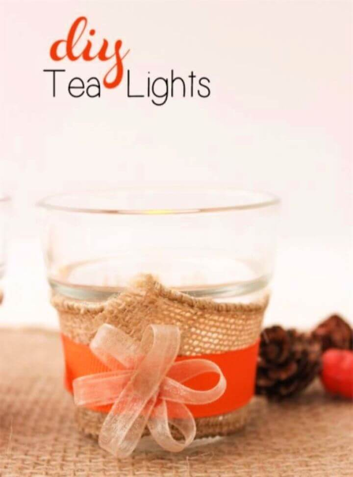 Simple DIY Tea Lights For The Table