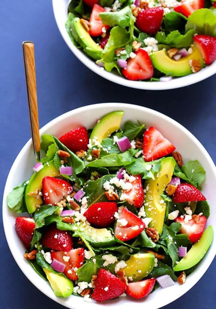 Strawberry Kale Salad