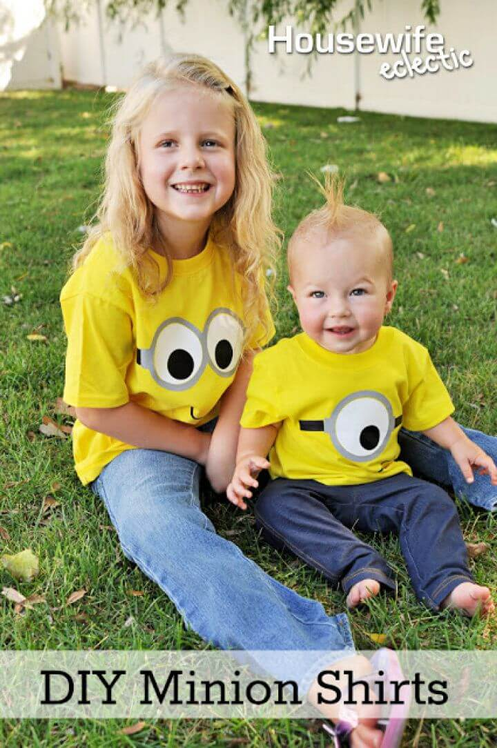 Super And Simple DIY Minion Shirts Gift