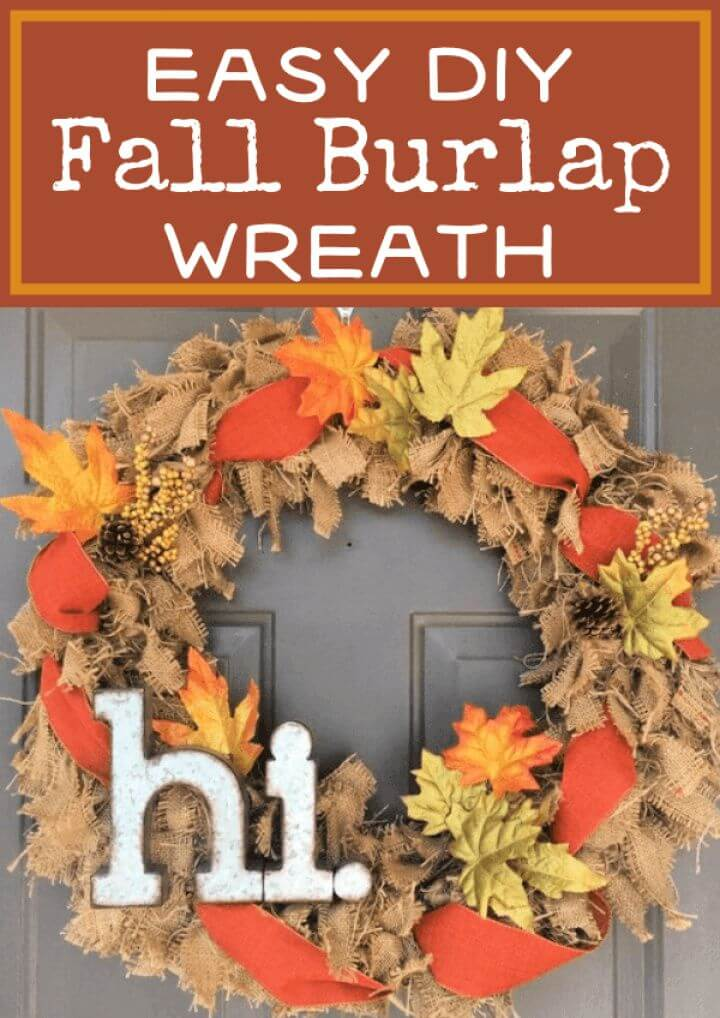 Super DIY Burlap Wreath For All Four Seasons