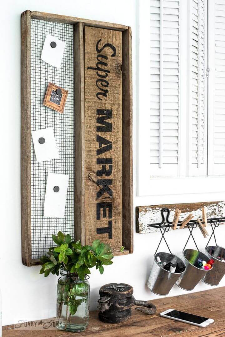 Super DIY Market Shopping List Sign