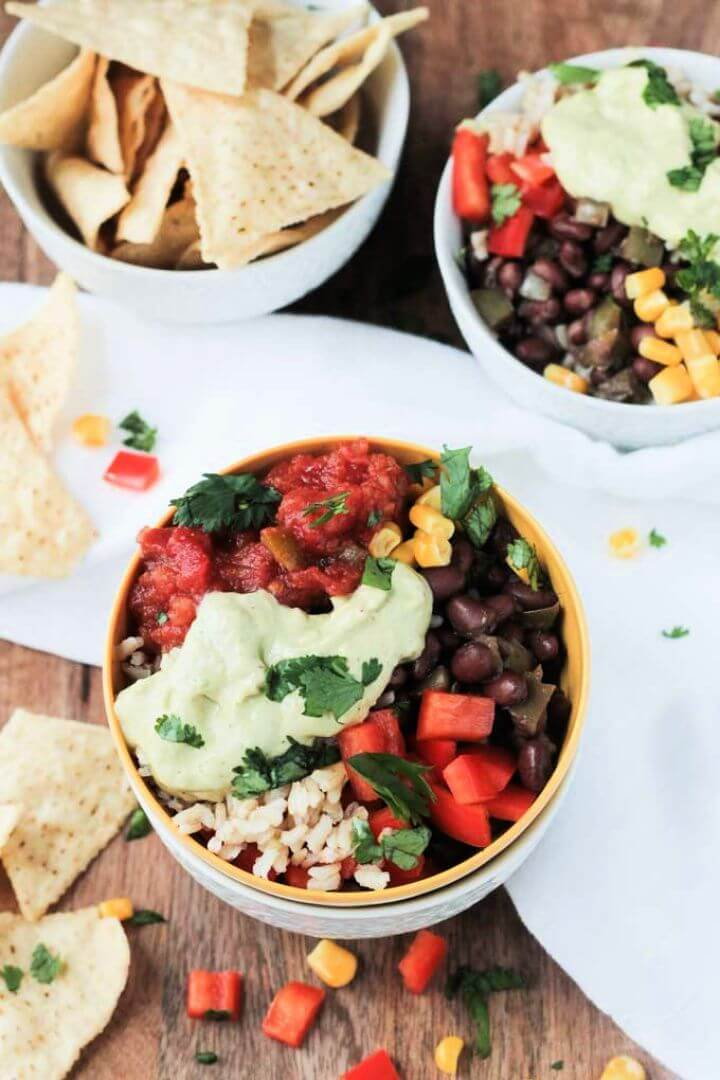 Super Simple DIY Vegan Burrito Bowl