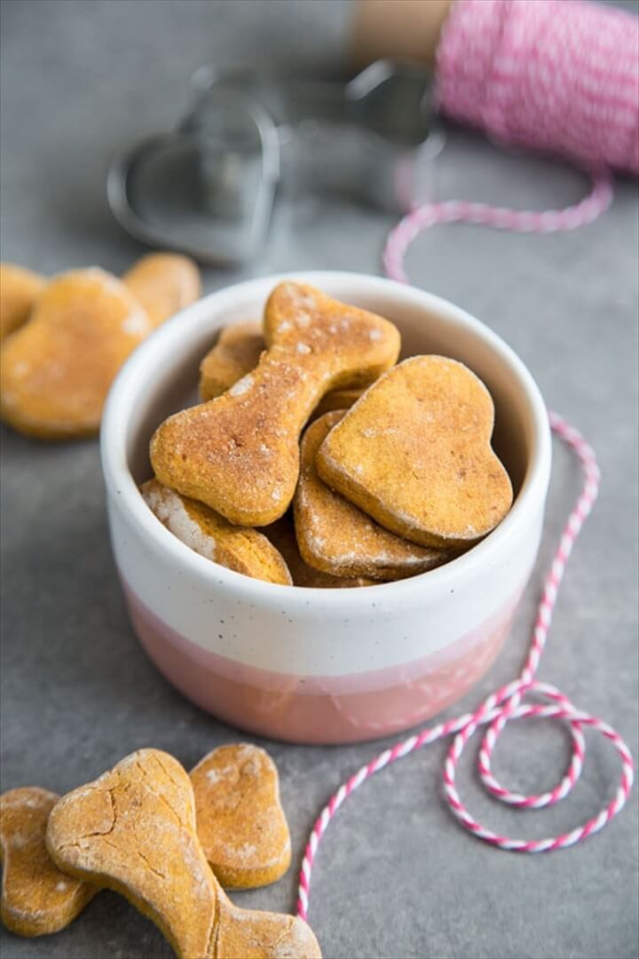 Sweet Potato Dog Treats in a Small Bowl