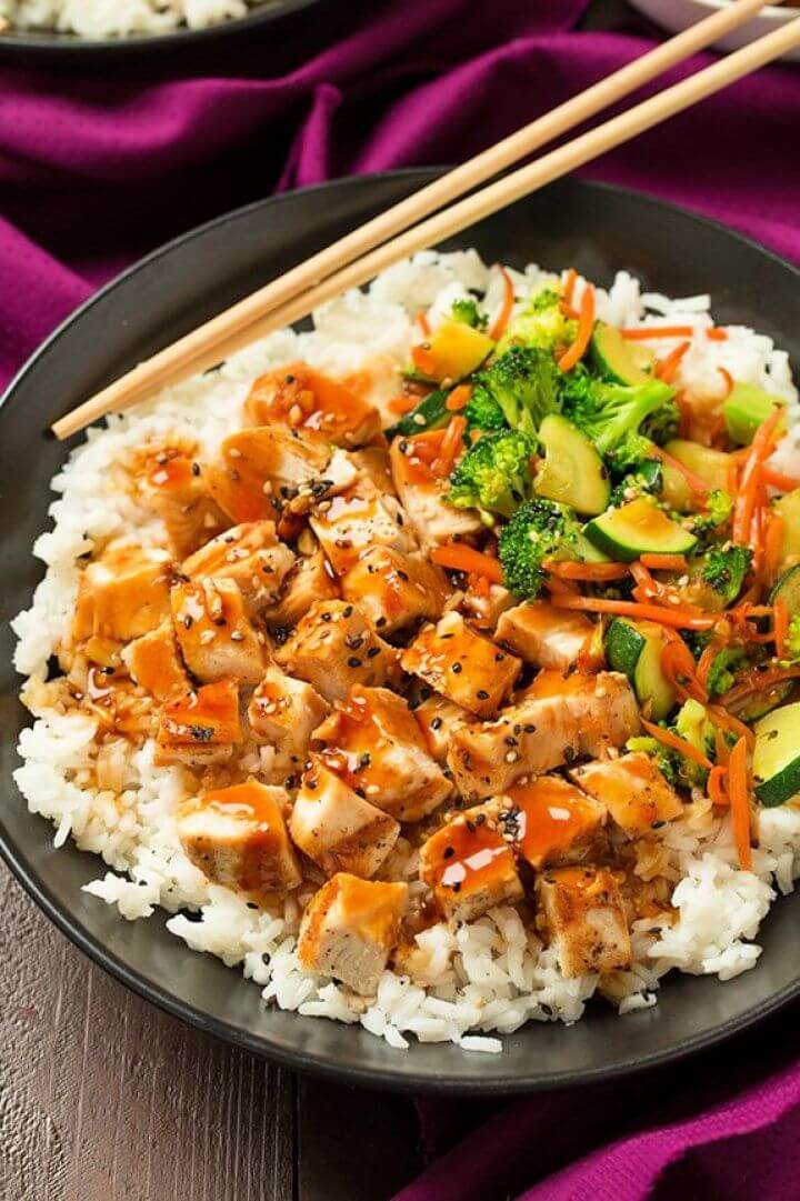 Teriyaki Grilled Chicken and Veggie Rice Bowls