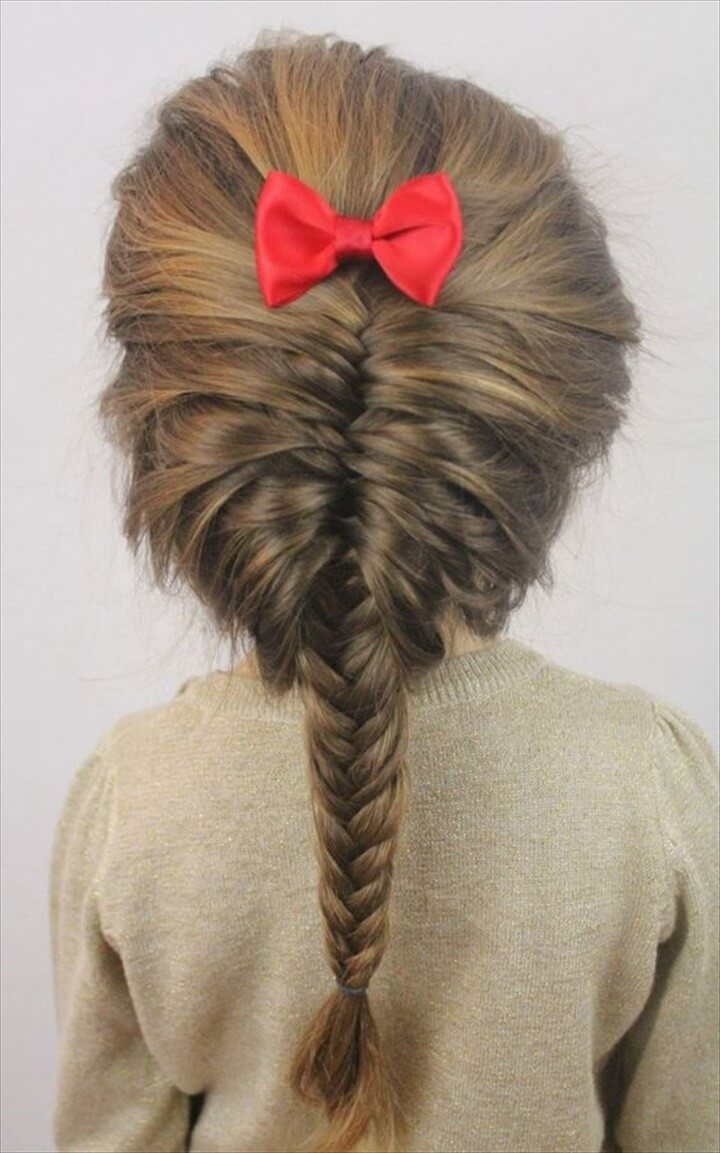 Toddler Fishtail Braid DIY