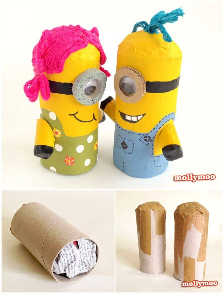 Toilet Roll Craft Make A DIY Minion
