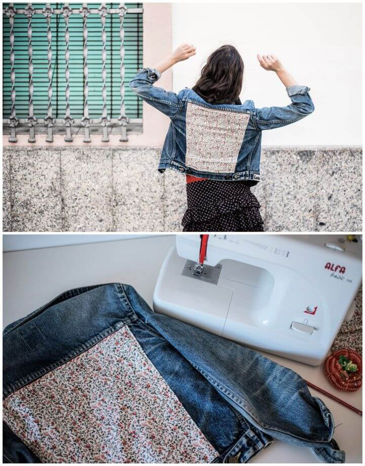 Upcycle Your Denim Jacket With Old Jean