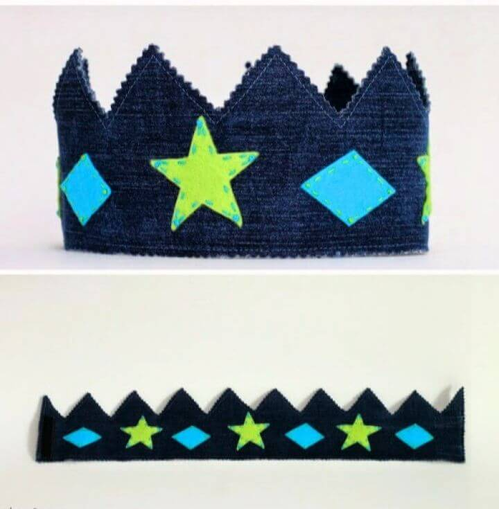 Upcycled Denim Play Crown