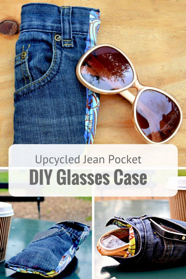 Upcycled Jeans DIY Glasses Case With Killer Pocket Feature