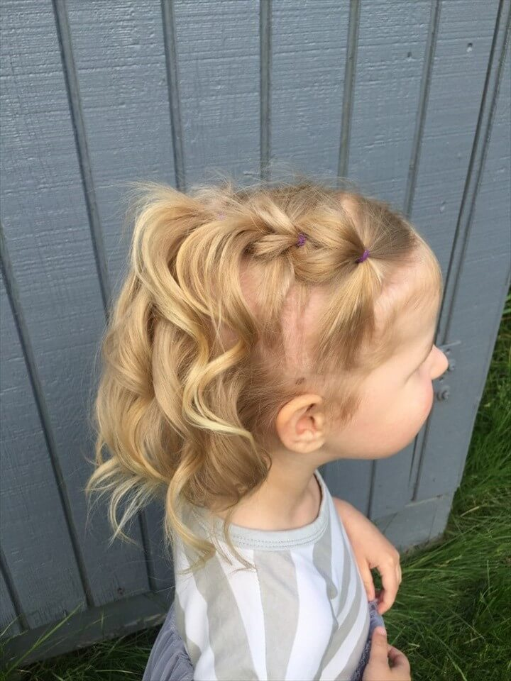 Waterfall Pull Through Braid for Toddlers
