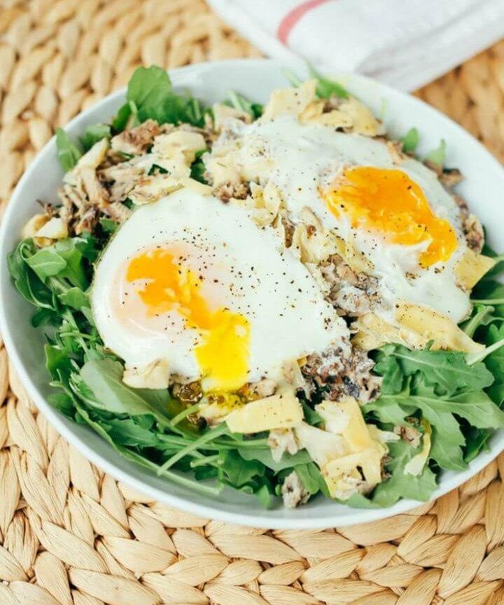 4 Ingredient Seaside Paleo Breakfast Salad