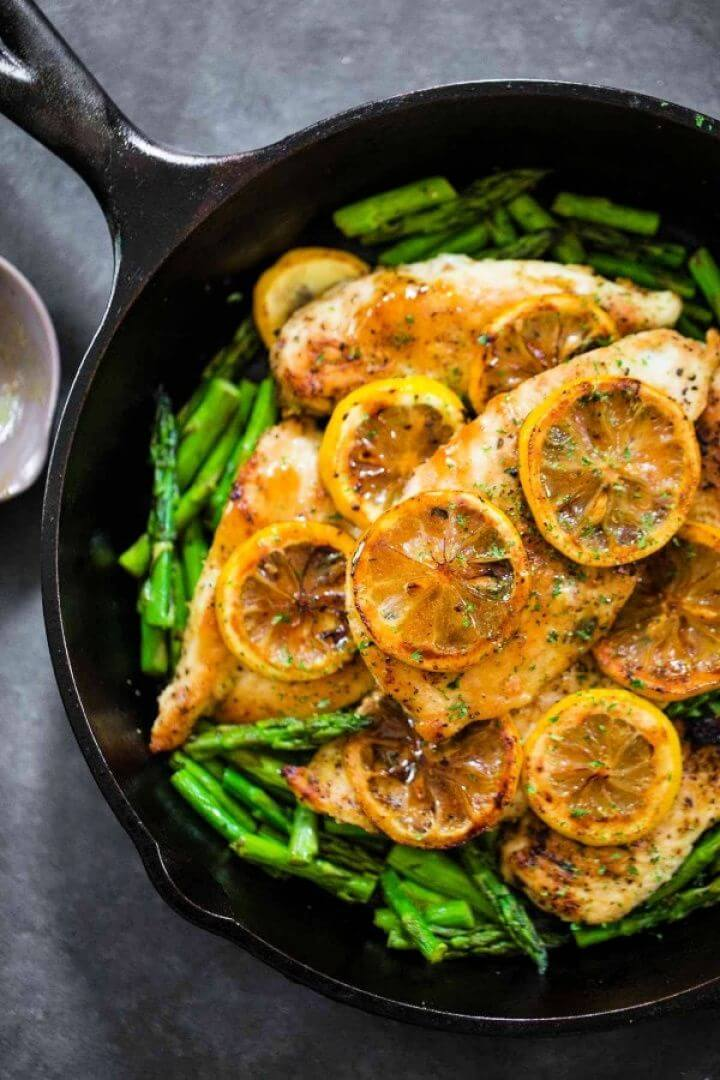 5 Ingredient Lemon Chicken With Asparagus