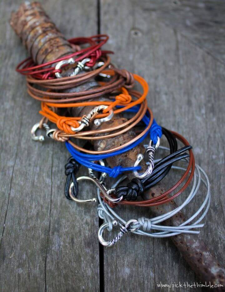 5 Minute Leather Friendship Bracelets