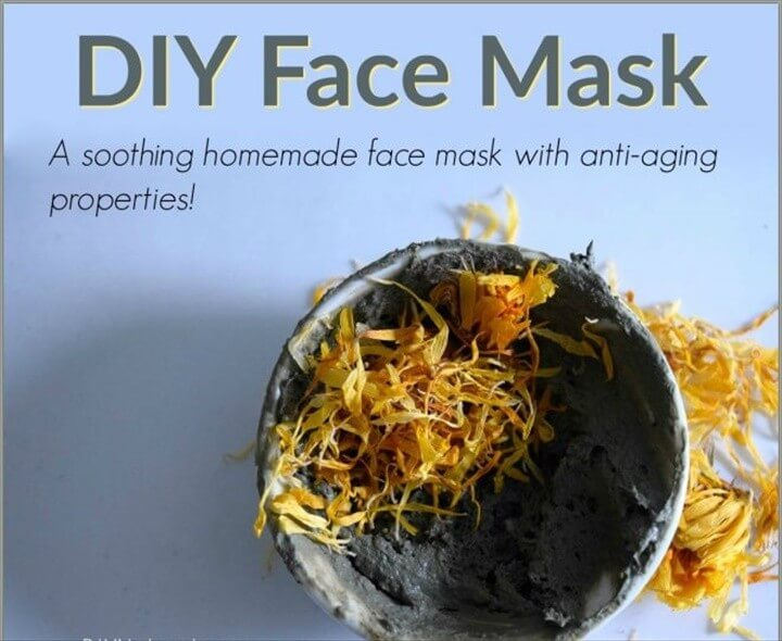 A Homemade Anti Aging Green Clay Face Mask
