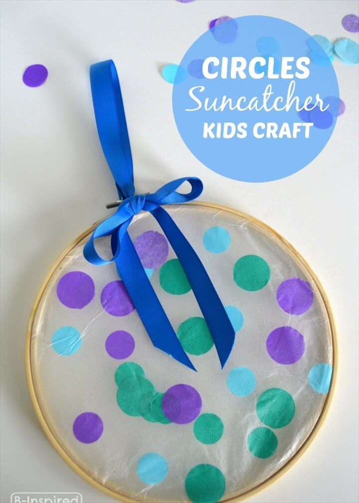 A Simple Circles Suncatcher Summer Craft for Kids