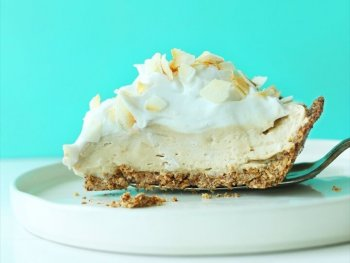 A Slice Of Our Easy Gluten free Vegan Coconut Cream Pie Recipe