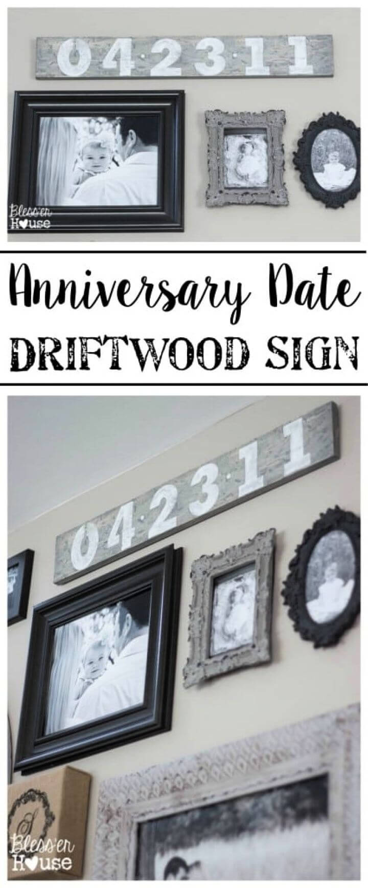 Anniversary Date Driftwood Sign