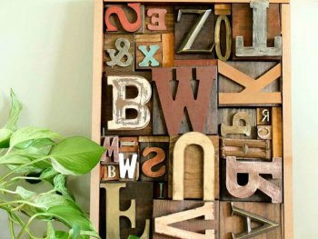 Art Idea With Faux Letterpress Print Blocks