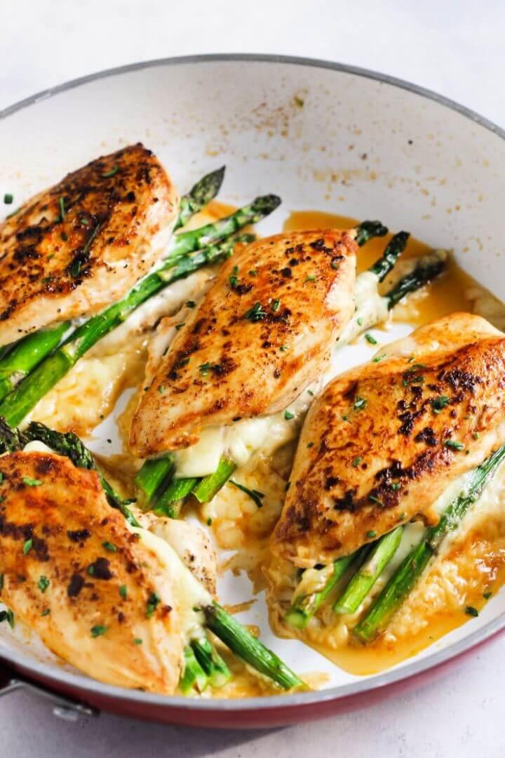 Asparagus Stuffed Chicken Breast