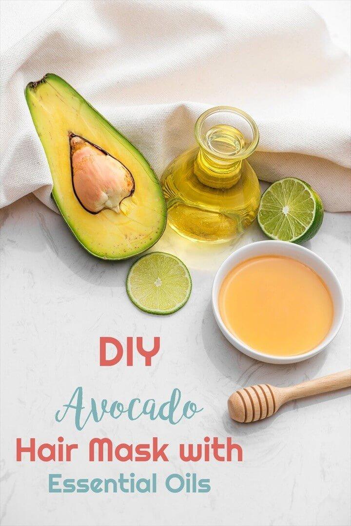 Avocado DIY Hair Mask with Essential Oils