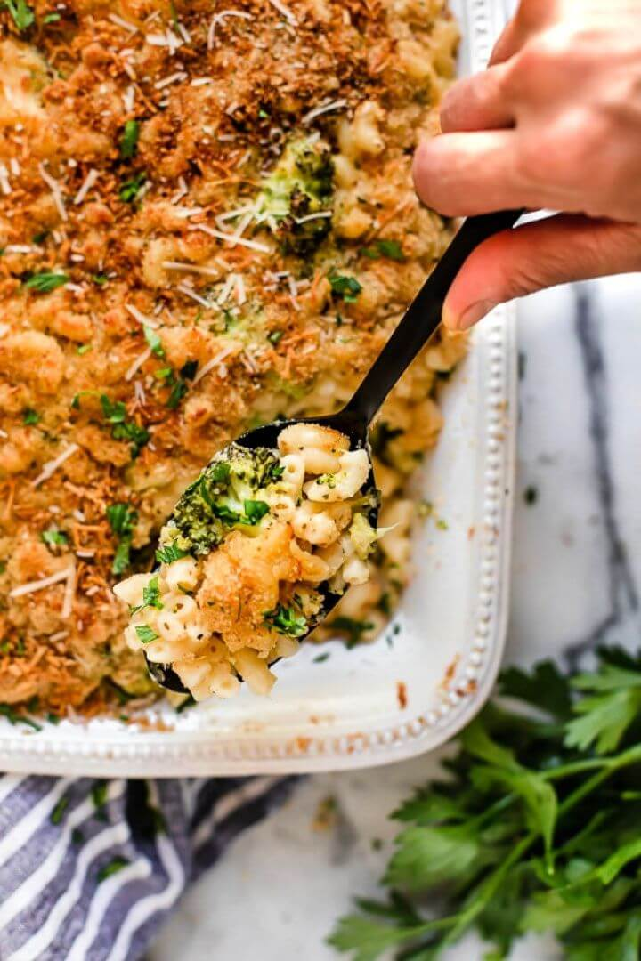 Baked Broccoli Macaroni And Cheese
