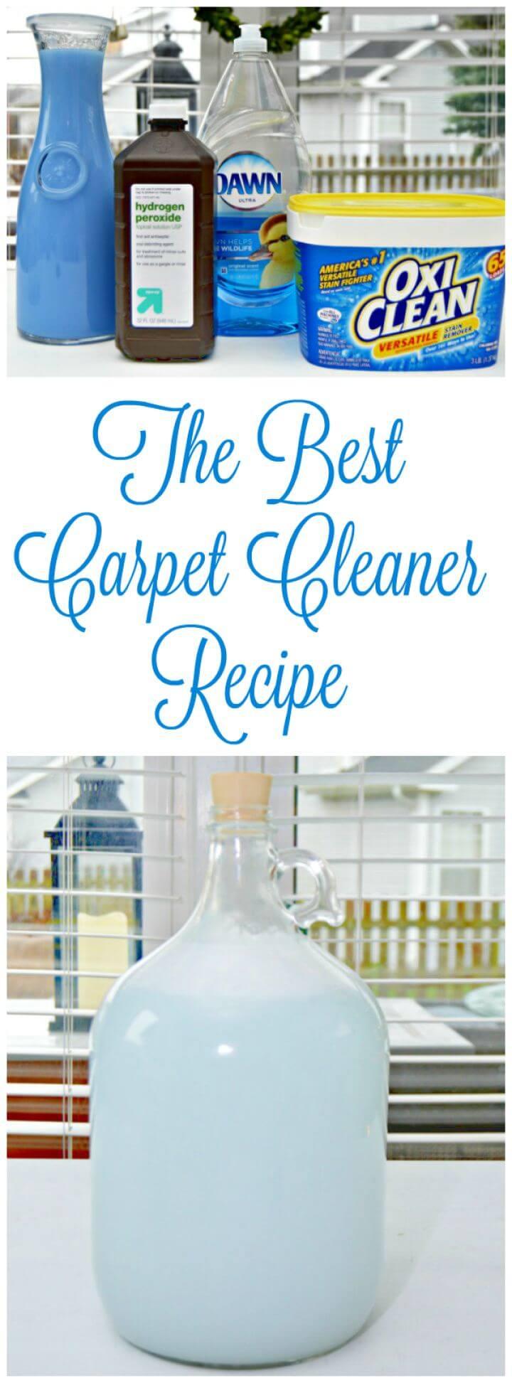 Best Carpet Cleaner Recipe