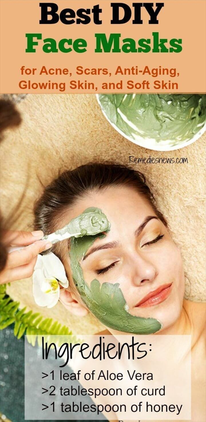 Best DIY Face Mask for Acne Scars Anti Aging Glowing Skin and Soft Skin