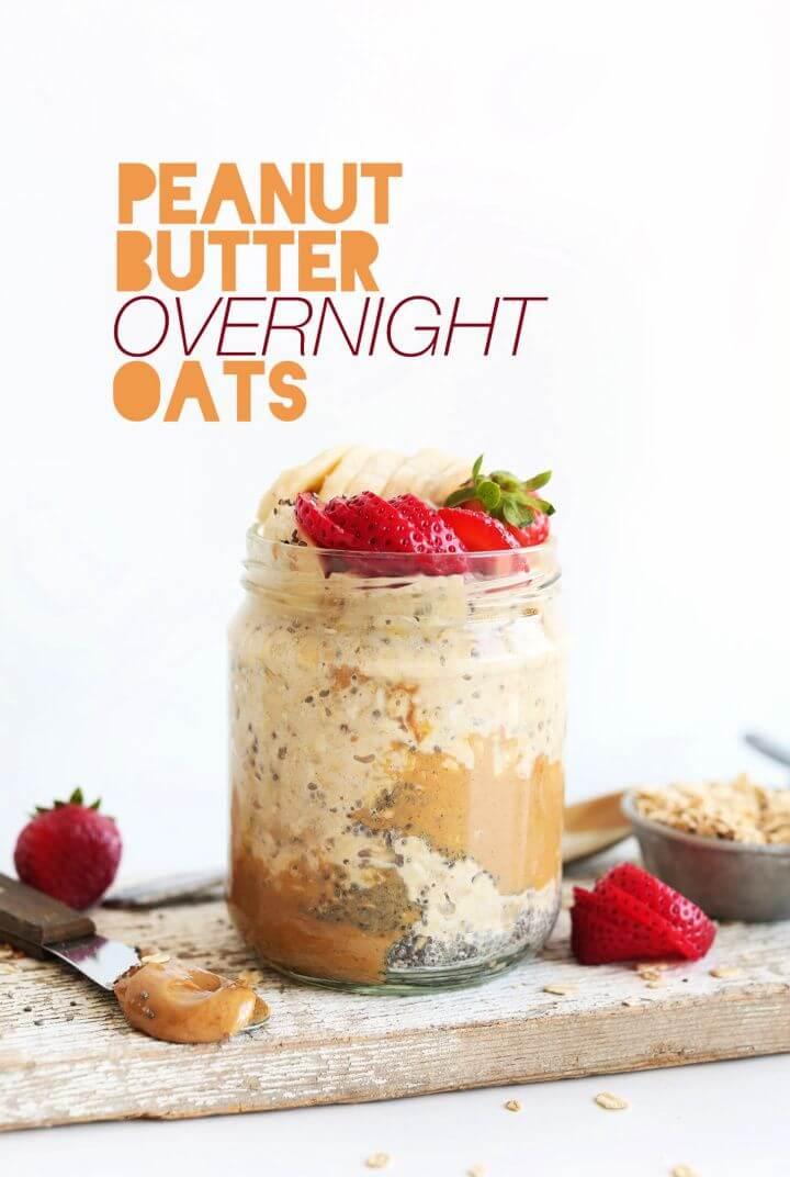 Best DIY Peanut Butter Overnight Oats