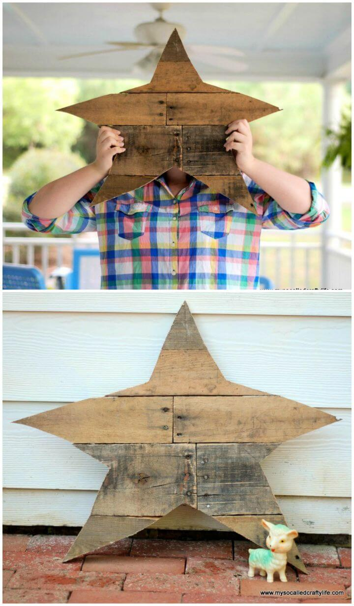 Best DIY Reclaimed Wood Pallet Star