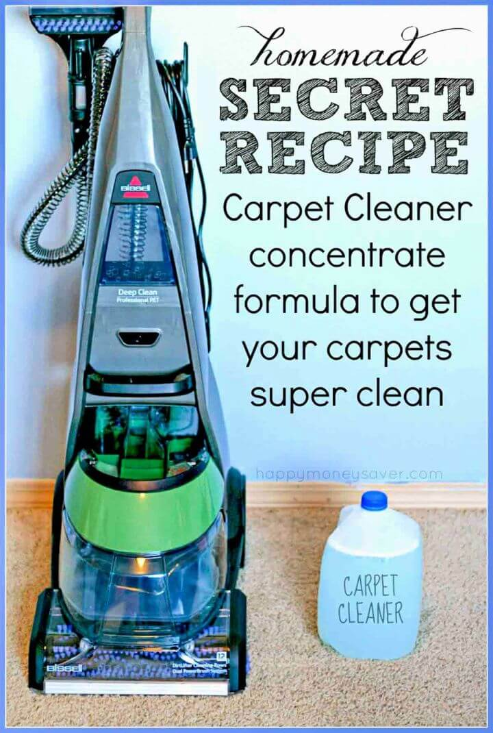 Best Homemade Carpet Cleaner Recipe for Machines