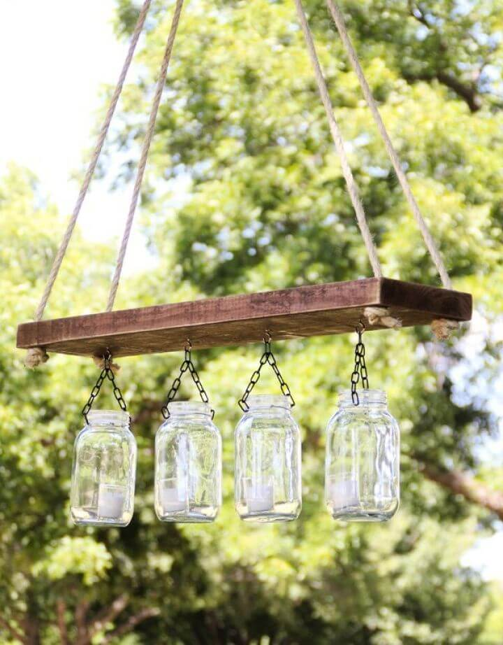 Best Outdoor Mason Jar Chandelier Tutorial