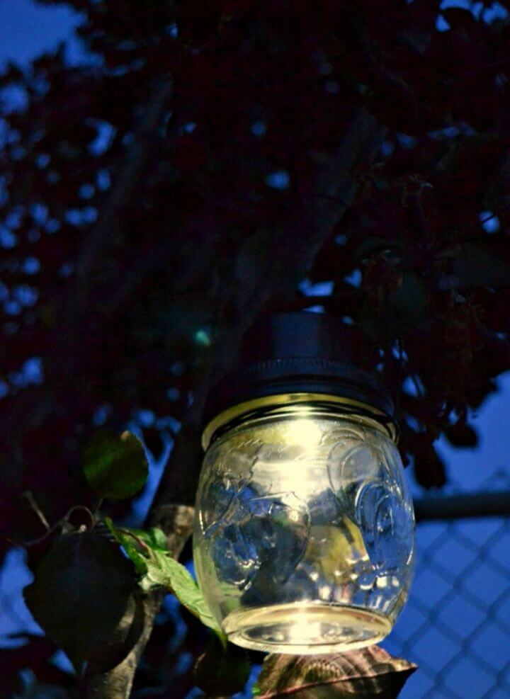 Build A DIY Hanging Mason Jar Solar Lights Tutorial