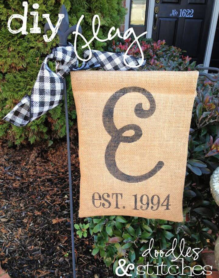 Build Your Own DIY Burlap Flag Tutorial