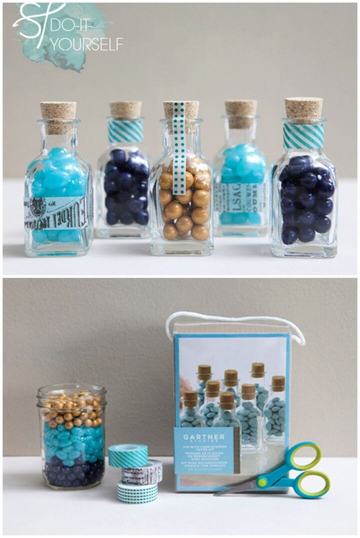 Candy Jars With Washi Tape