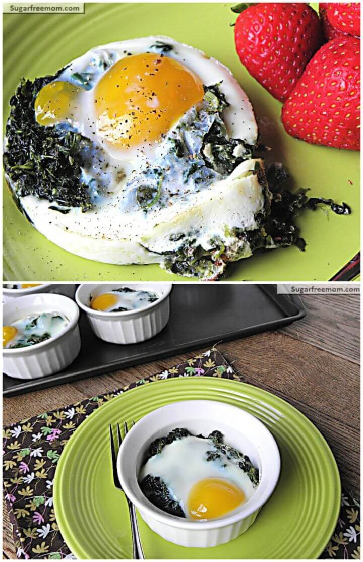 Cheesy Spinach Baked Eggs