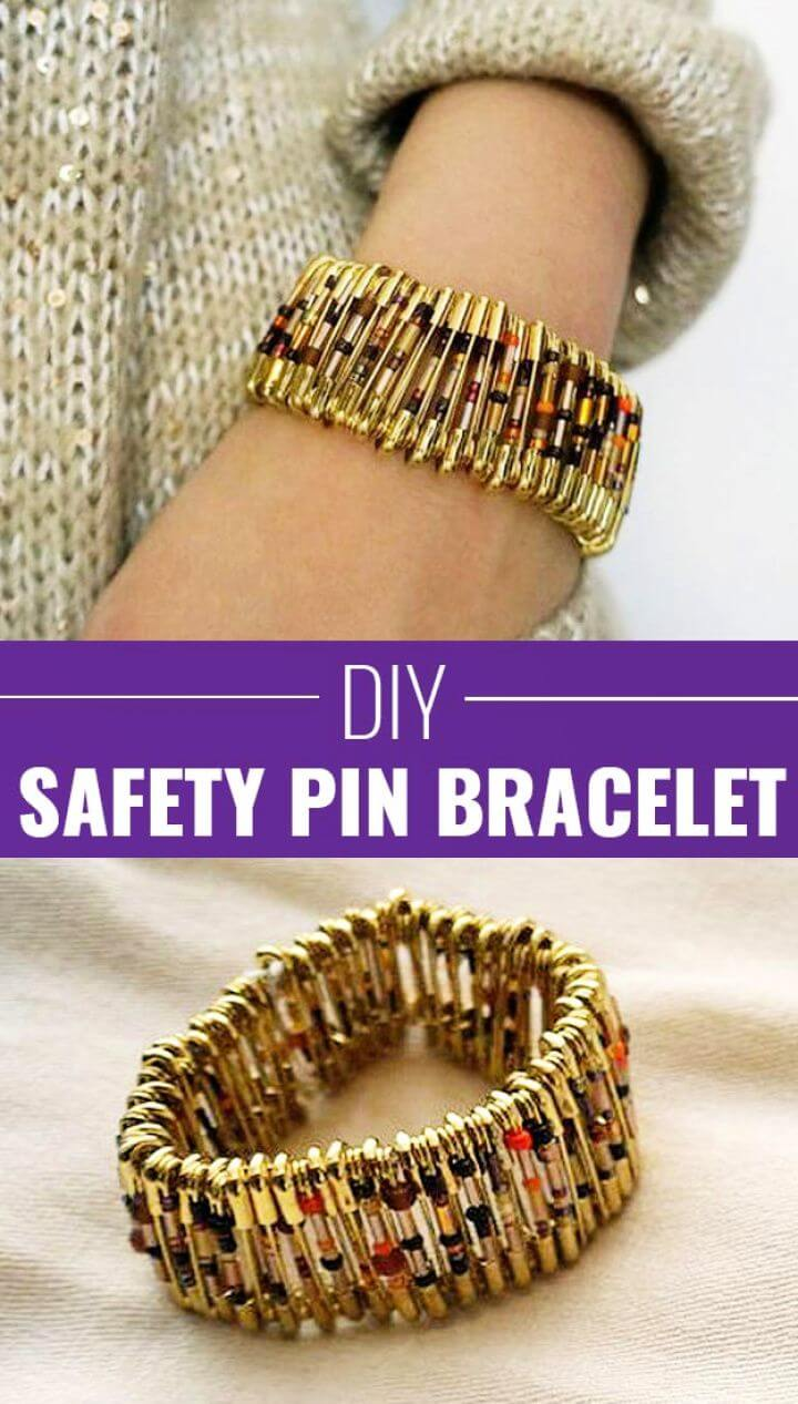 Chic Safety Pin Bracelet