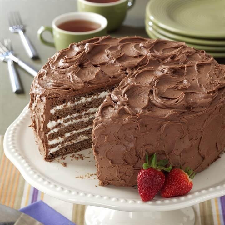 ChocolateWhipping Cream Torte Recipe Idea