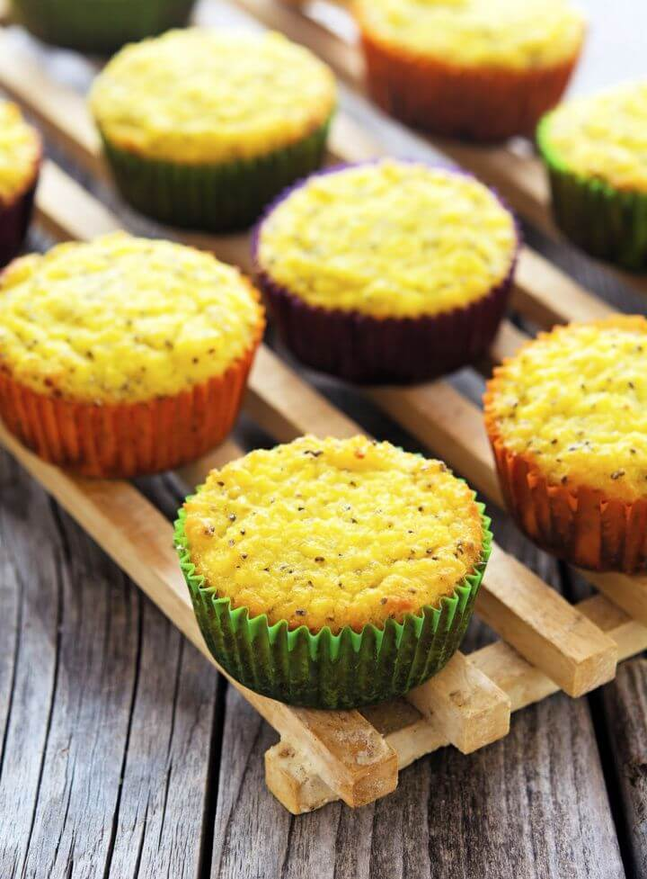 Coconut Lemon Chia Seed Muffins