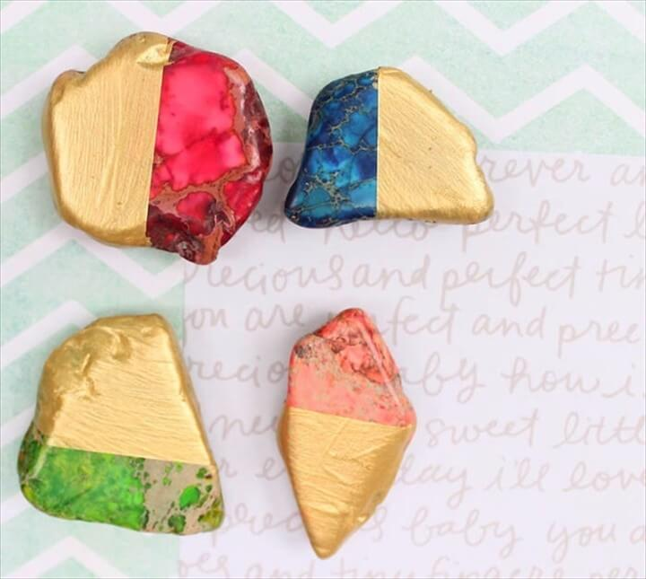Crafts to Make and Sell DIY Gold Dipped Magnets