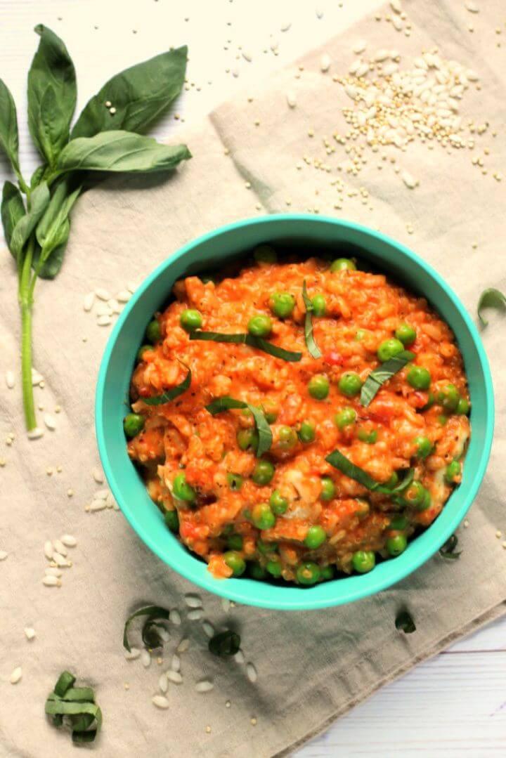 Creamy Tomato Mozzarella Quinoa Risotto For Babies Toddlers