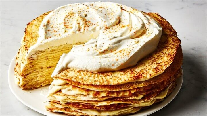 Crepe Cake with Whipped Cream Recipe