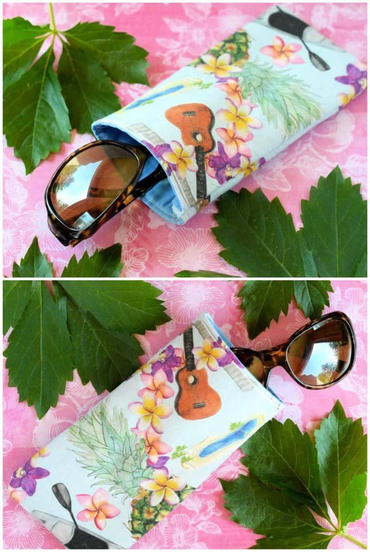Cute DIY Fabric Glasses Case