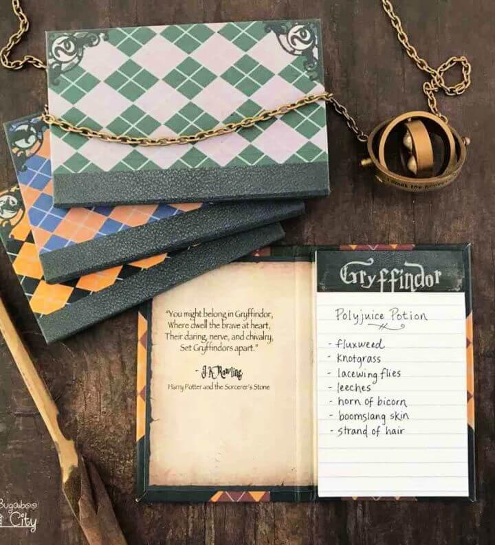 Cute DIY Harry Potter Notepads