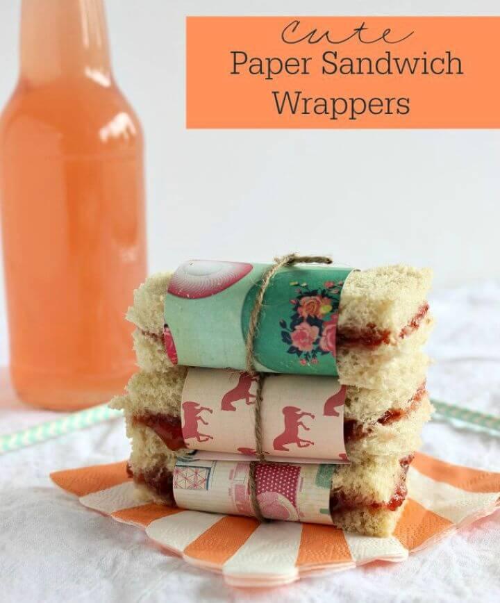 Cute DIY Paper Sandwich Wrappers