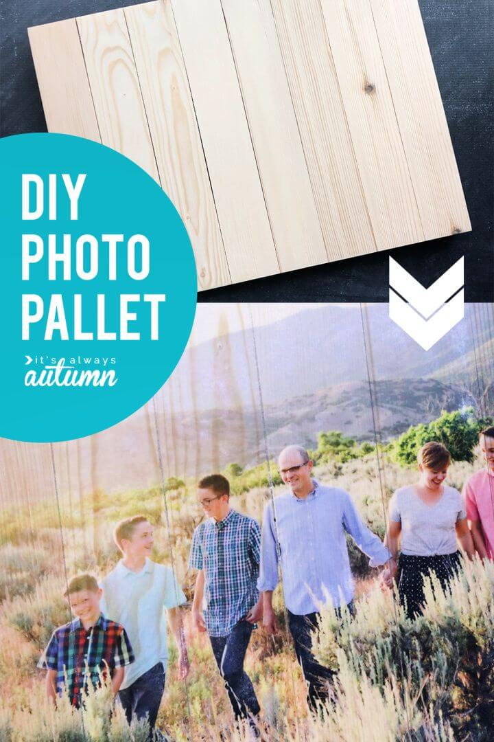 Cute DIY Wood Photo Pallet