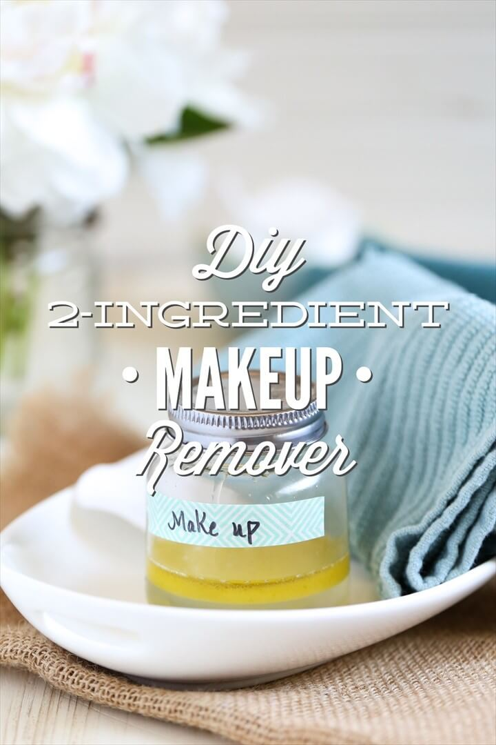 DIY 2 Ingredient Makeup Remover
