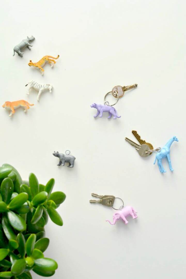 DIY Animal Key Rings