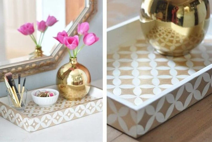 DIY Bone Inlay Inspired Tray Teen Room Decor Idea