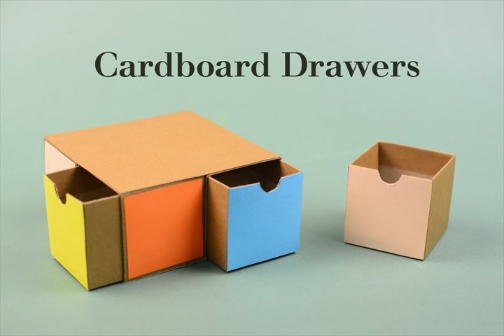 DIY Cardboard Drawers Tutorial