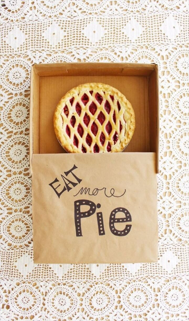 DIY Cardboard Pie Box Tutorial